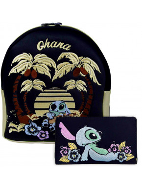 Pack Loungefly Stitch bolso y cartera Ohana