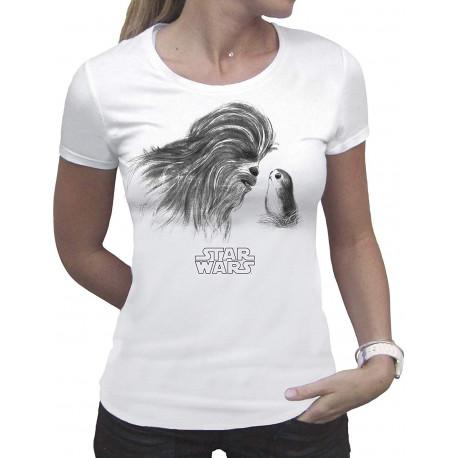Camiseta Chica Star Wars Chewbacca Porg