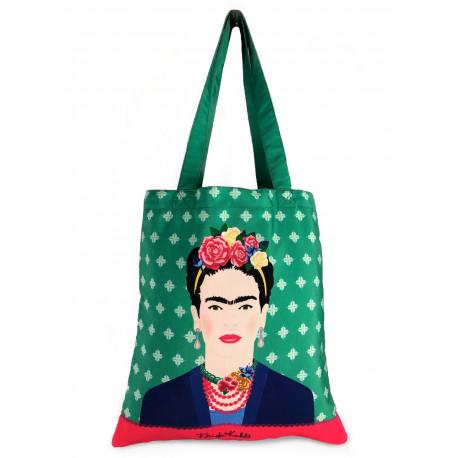 Bolsa de Tela Frida Kahlo Verde