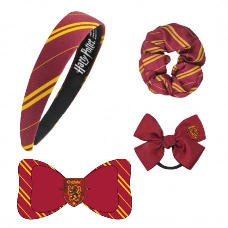 Set accesorios para el pelo Harry Potter Gryffindor