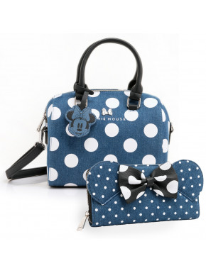 Pack bolso y cartera Minnie Denim Loungefly