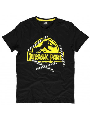 Camiseta Jurassic World Logo Amarillo