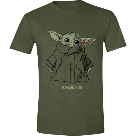 Camiseta Baby Yoda Boceto The Mandalorian Star Wars