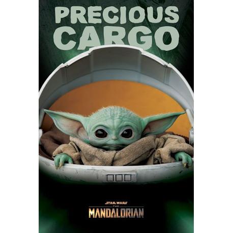 Póster Star Wars Precious Cargo Baby Yoda