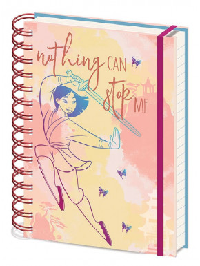 Libreta A5 Mulán Disney Nothing Can Stop Me