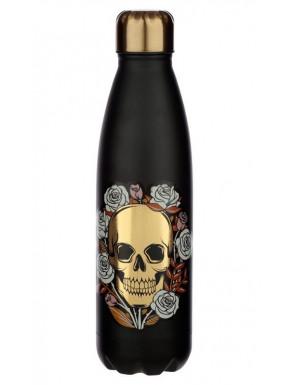 Botella Metálica Calaveras y Rosas