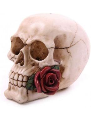 Figura Calavera Rosa 11 cm