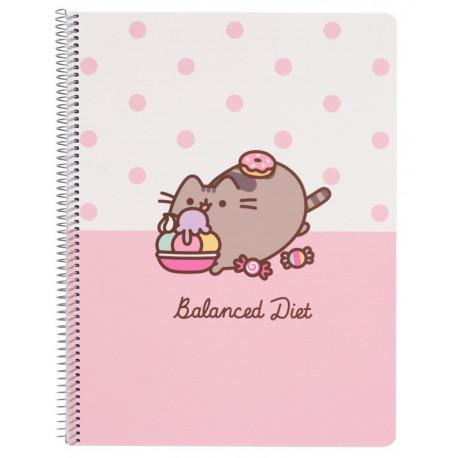 Cuaderno espiral Pusheen Diet A4