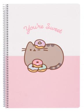 Cuaderno espiral Pusheen A4 Rosa