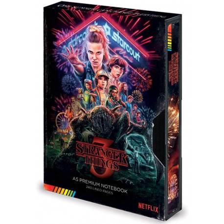Libreta Premium A5 Stranger Things VHS Temporada 3