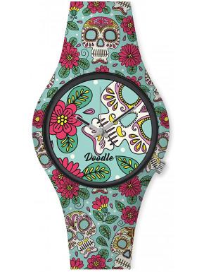 Reloj Calavera Verde Doodle
