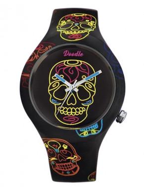 Reloj Calavera Negra Doodle