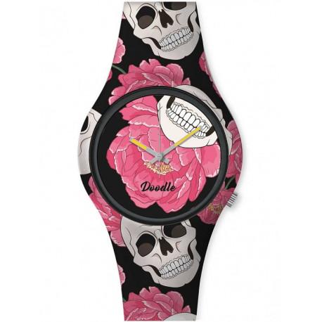 Reloj Calavera & Rosas Doodle