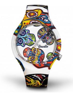 Reloj Calavera Blanco Doodle