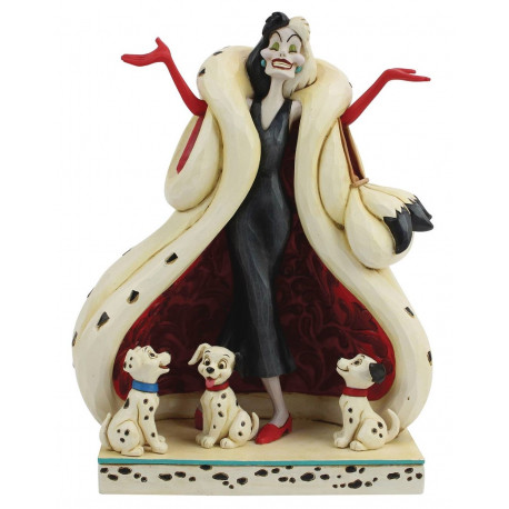 Figura Cruella de Vil & Cachorritos 101 Dálmatas Jim Shore Disney