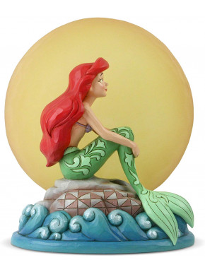 Figura con Luz Ariel La Sirenita Moon Jim Shore Disney