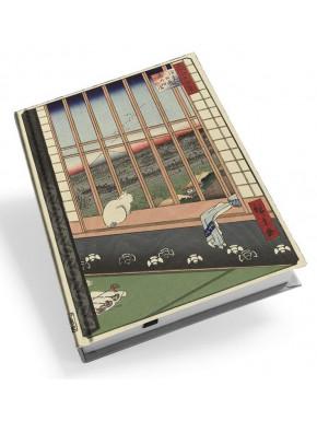 Libreta Campos de Arroz y Festival de Torinomachi Utagawa Hiroshige