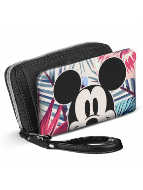 Cartera Billetera Mickey Disney Floral