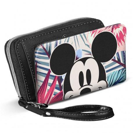 Cartera Billetera Mickey Disney Floral