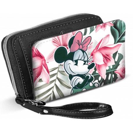 Cartera Billetera Minnie Disney Floral