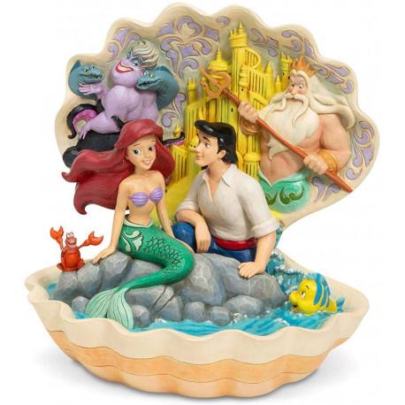 Figura Personajes La Sirenita Moon Jim Shore Disney