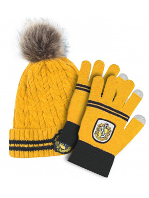 Guantes y Gorro Hufflepuff Harry Potter