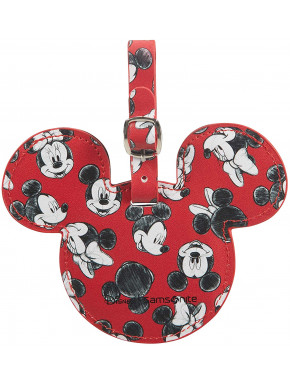 Identificador equipaje Mickey & Minnie Rojo Disney Samsonite