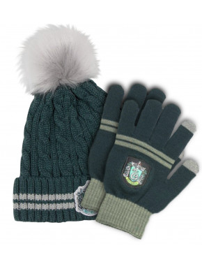 Guantes y Gorro Slytherin Harry Potter