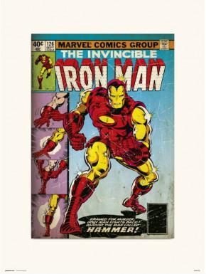 Lámina Iron Man 126 Marvel 30 x 40 cm