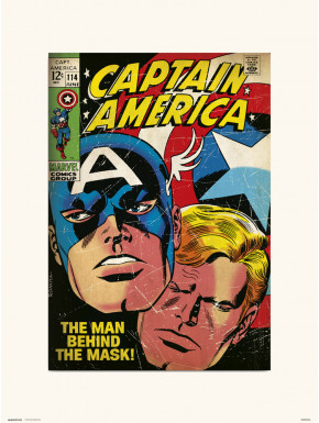 Lámina Capitán América 114 Marvel 30 x 40 cm