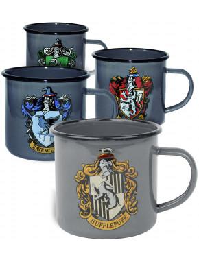 Pack Tazas metálicas casas de Hogwarts Harry Potter