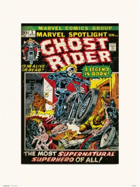 Lámina Ghost Rider 5 Marvel 30 x 40 cm