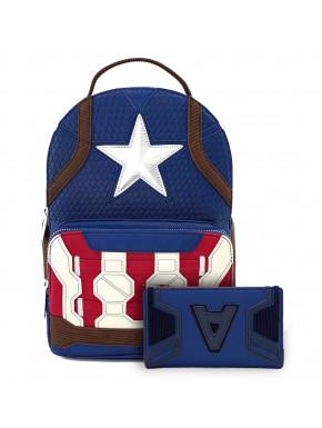 Bolso Mochila y Cartera Loungefly Capitán América Marvel