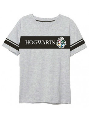 Camiseta Harry Potter Hogwarts Gris