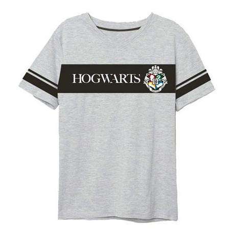 Camiseta Harry Potter Hogwarts Gris