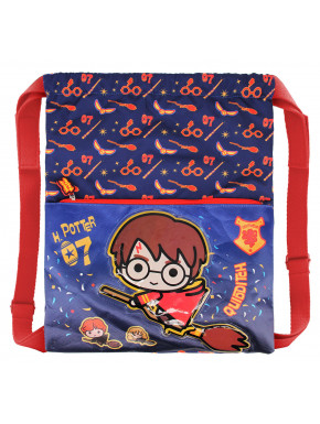 Mochila Saco Harry Potter Quidditch Kawaii