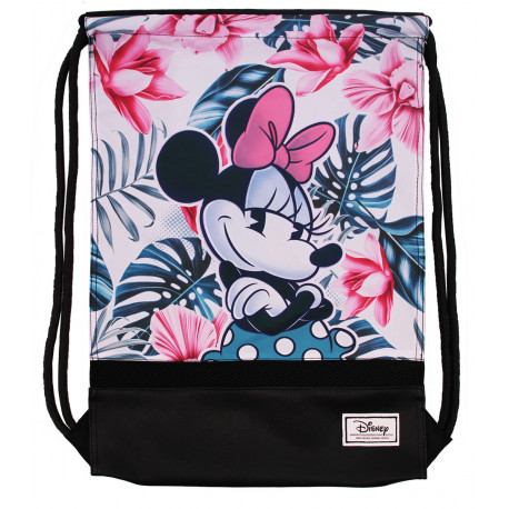 Mochila Saco Minnie Disney Floral