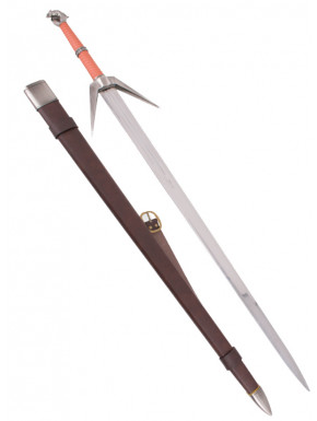 Réplica 1:1 espada de plata superior escuela del Lobo The Witcher III en acero