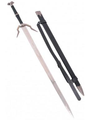 Réplica 1:1 The Witcher III espada de plata superior escuela del Lobo en acero