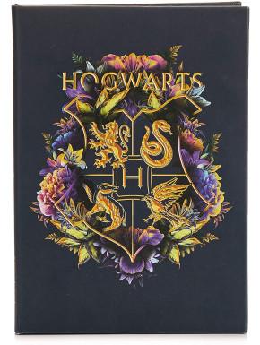 Cuaderno Hogwarts Flores Harry Potter