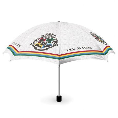 Paraguas Harry Potter Hogwarts blanco