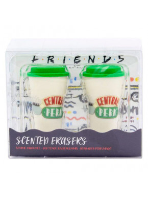 Set gomas Friends con olor a café