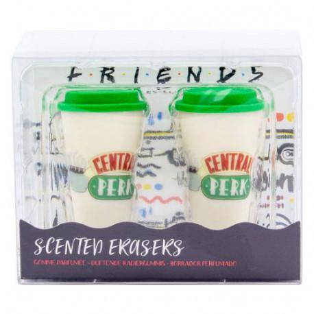 Set gomas Friends con olor a café