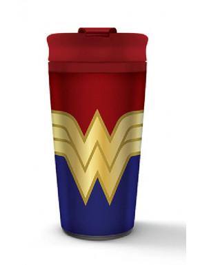 Vaso de viaje metálico Wonder Woman