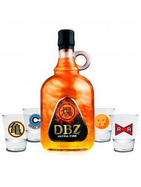 Pack licor y chupitos Dragon Ball