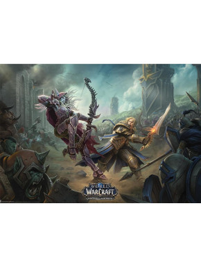 Poster World of Warcraft Azeroth Battle