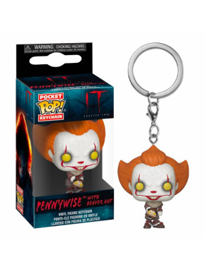 Llavero mini Funko Pop! Pennywise It IT: CH 2 - KEYCHAIN PENNYWISE W/BEAVE