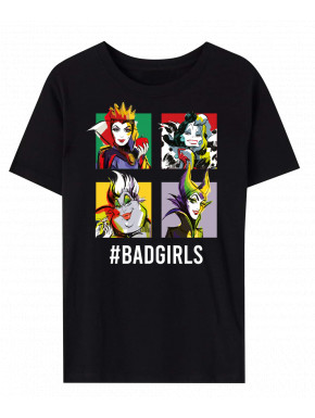 VILLAINS - T-SHIRT BAD GIRLS BLACK