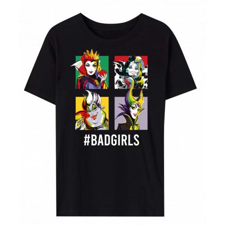VILLAINS - T-SHIRT BAD GIRLS BLACK