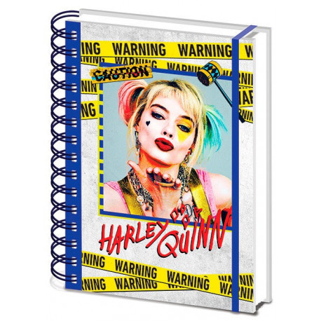 Birds Of Prey Libreta A5 Wiro Harley Quinn Warning